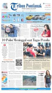 Cover Tribun Pontianak 20 April 2019