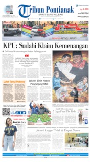 Cover Tribun Pontianak 21 April 2019