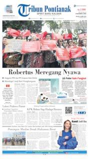 Tribun Pontianak Cover 23 April 2019