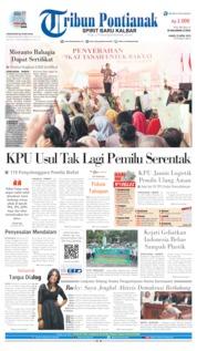 Tribun Pontianak Cover 25 April 2019