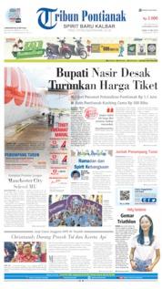 Cover Tribun Pontianak 13 Mei 2019