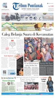 Cover Tribun Pontianak 20 Mei 2019