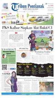 Cover Tribun Pontianak 25 Mei 2019