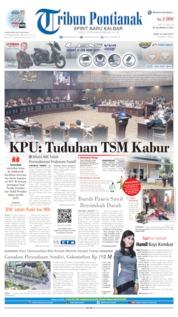 Cover Tribun Pontianak 19 Juni 2019