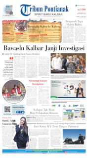 Cover Tribun Pontianak 21 Juni 2019
