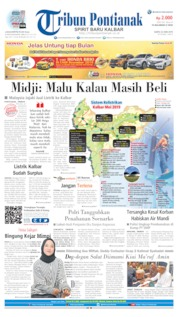 Cover Tribun Pontianak 22 Juni 2019