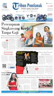 Cover Tribun Pontianak 24 Juni 2019