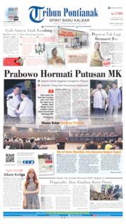 Cover Tribun Pontianak 28 Juni 2019