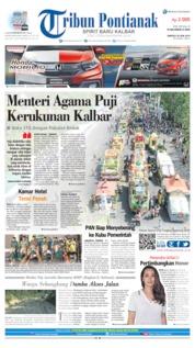 Cover Tribun Pontianak 30 Juni 2019