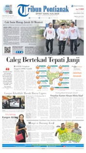 Cover Tribun Pontianak 03 Juli 2019