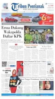 Cover Tribun Pontianak 06 Juli 2019