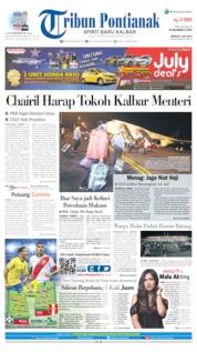 Cover Tribun Pontianak 07 Juli 2019