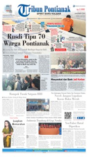 Cover Tribun Pontianak 18 Juli 2019