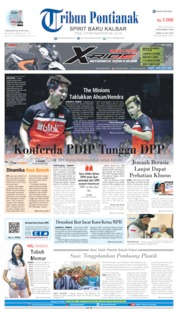 Cover Tribun Pontianak 22 Juli 2019