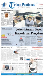 Tribun Pontianak Cover 07 August 2019