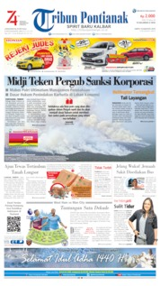 Tribun Pontianak Cover 10 August 2019
