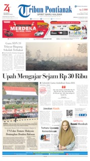 Tribun Pontianak Cover 18 August 2019
