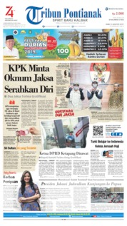 Tribun Pontianak Cover 21 August 2019