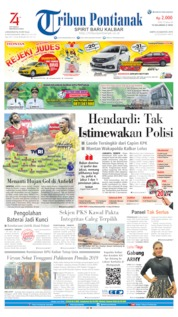 Tribun Pontianak Cover 24 August 2019