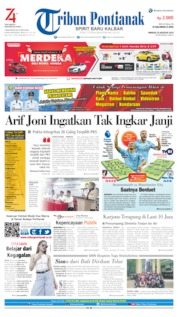 Cover Tribun Pontianak 25 Agustus 2019