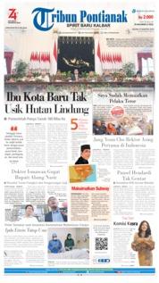 Cover Tribun Pontianak 27 Agustus 2019