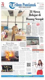 Cover Tribun Pontianak 28 Agustus 2019