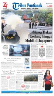 Cover Tribun Pontianak 30 Agustus 2019
