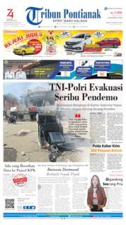 Cover Tribun Pontianak 31 Agustus 2019