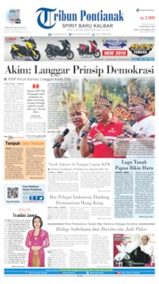 Cover Tribun Pontianak 02 September 2019
