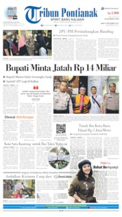 Cover Tribun Pontianak 04 September 2019