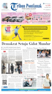 Cover Tribun Pontianak 07 September 2019