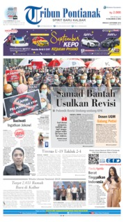 Cover Tribun Pontianak 08 September 2019