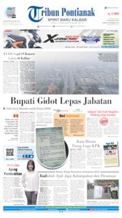 Cover Tribun Pontianak 09 September 2019