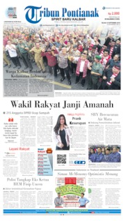 Cover Tribun Pontianak 10 September 2019