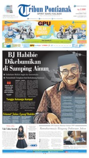 Cover Tribun Pontianak 12 September 2019