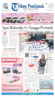Cover Tribun Pontianak 14 September 2019