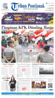Cover Tribun Pontianak 15 September 2019