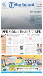 Cover Tribun Pontianak 18 September 2019