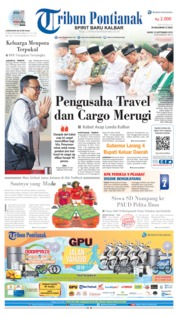 Cover Tribun Pontianak 19 September 2019