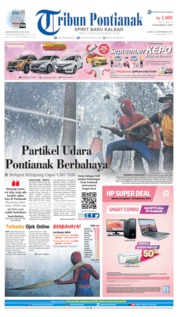 Tribun Pontianak Cover 21 September 2019