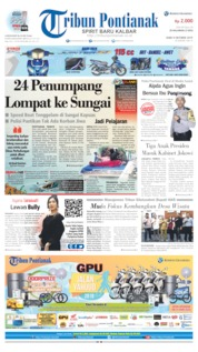 Tribun Pontianak Cover 09 October 2019