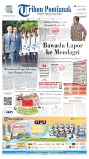 Tribun Pontianak Cover 10 October 2019