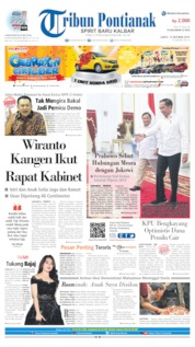 Tribun Pontianak Cover 12 October 2019