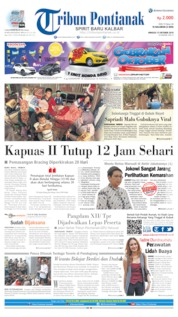 Tribun Pontianak Cover 13 October 2019