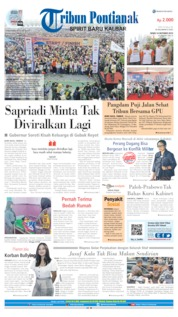 Tribun Pontianak Cover 14 October 2019