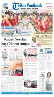 Tribun Pontianak Cover 18 October 2019