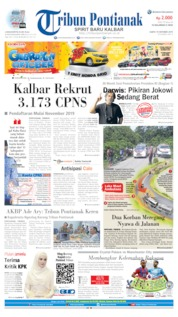 Tribun Pontianak Cover 19 October 2019