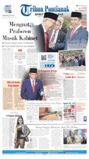 Tribun Pontianak Cover 21 October 2019