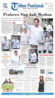 Cover Tribun Pontianak 22 Oktober 2019