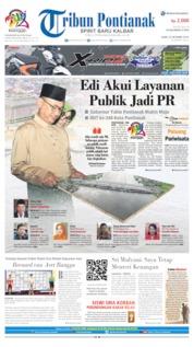 Cover Tribun Pontianak 23 Oktober 2019